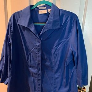 Chico's Royal blue 3/4 sleeve blouse